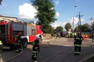 Uszkodzony gazociąg w Ostródzie. Strażacy zablokowali ruch