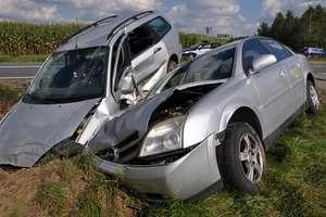 Zderzenie dwóch aut na trasie Działdowo - Lidzbark