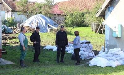 Komendant główny odwiedził miejsca, gdzie prowadzone były działania ratownicze