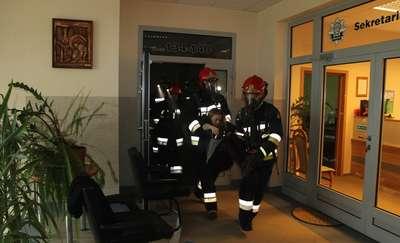 Pożar w komendzie. Tak wyglądał scenariusz strażackich ćwiczeń