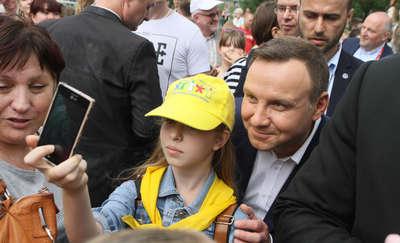 Andrzej Duda z wizytą w Jezioranach
