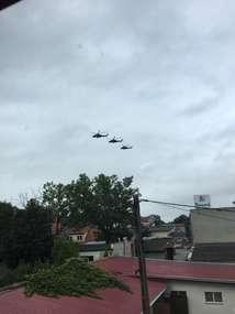 Śmigłowce wojskowe Mi-24 nad Bartoszycami