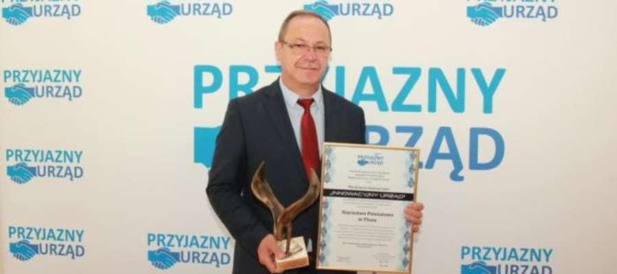 Nagrody odebrał starosta piski Andrzej Nowicki