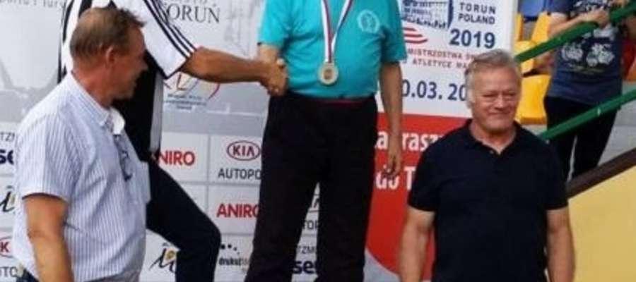 Alfred Jóźwiak na podium w Toruniu