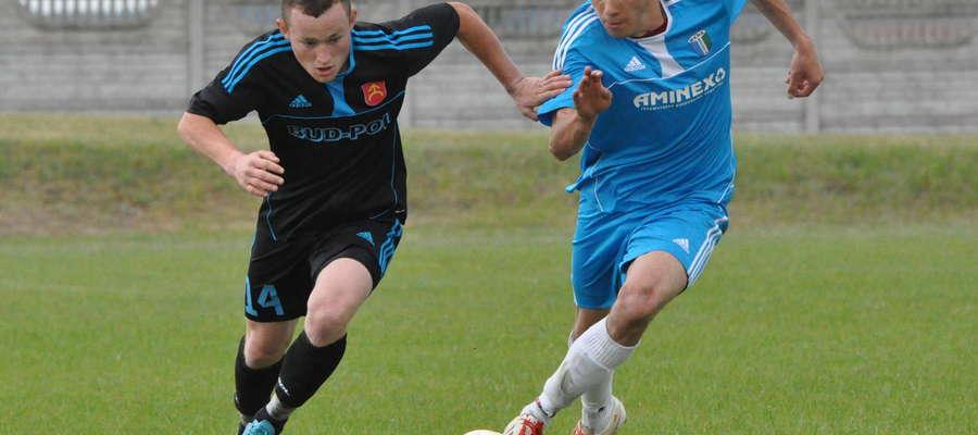 Rafał Balcerzak (z lewej) zdobył dwa gole dla Boruty fot. mo