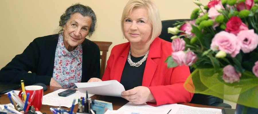 Lidia Staroń  Olsztyn- senator Lidia Staroń i Tatiana Szpakiewicz która została oszukana i straciła  dom.