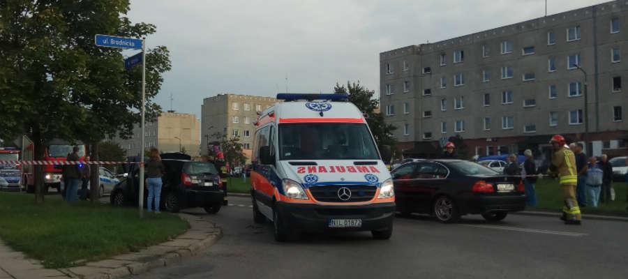 Do wypadku doszło na skrzyżowaniu ulicy Wiejskiej z Brodnicką