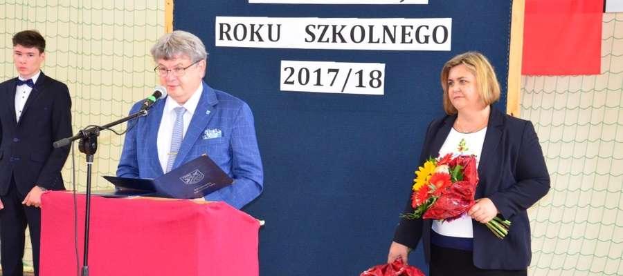 Starosta braniewski Leszek Dziąg uczestniczył w rozpoczęciu roku szkolnego w ZSB