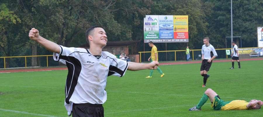 Jakub Kozłowski trzykrotnie pokonał bramkarza Vęgorii
