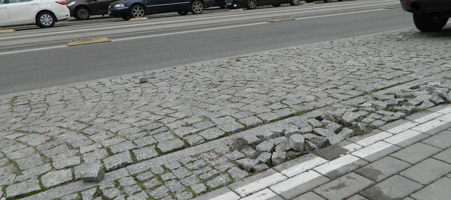 Kościuszki - zły stan dróg