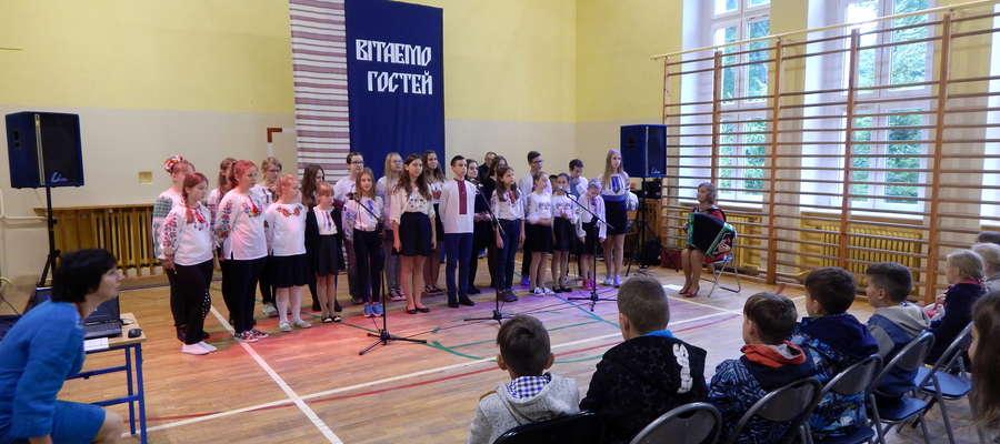 Ukraińscy uczniowie odwiedzili Pozezdrze