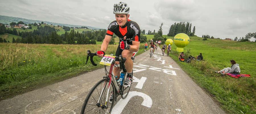 Oskar podczas Amatorskiego Tour de Pologne w Bukowinie Tatrzańskiej
