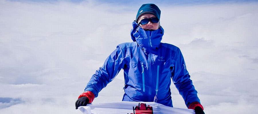 Beata Kuprewicz na Elbrusie.