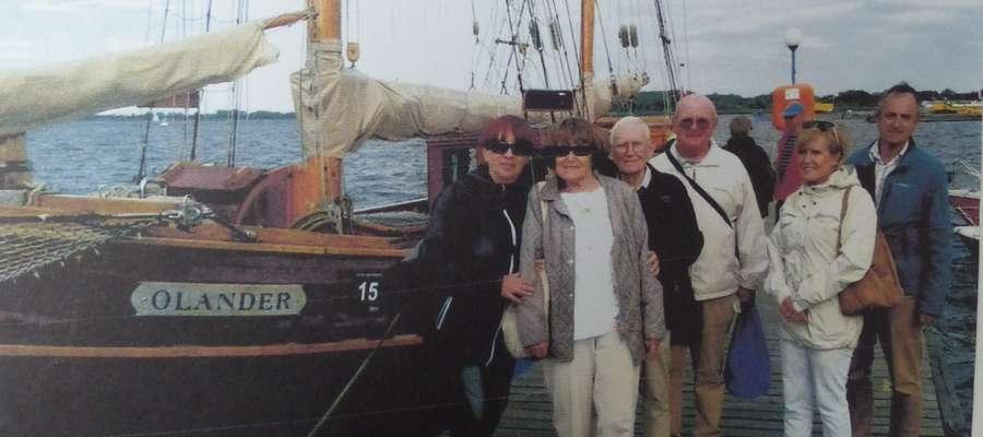 Wanda i Jerzy Śmiechowicz z wizytą u żeglarzy w Szczecinie