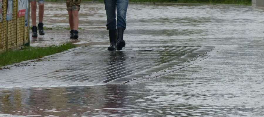 Deszcz w poniedziałek padał praktycznie przez cały dzień