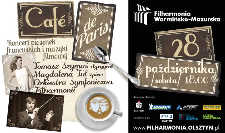 Cafe de Paris. Wyjątkowy koncert w olsztyńskiej filharmonii - full image
