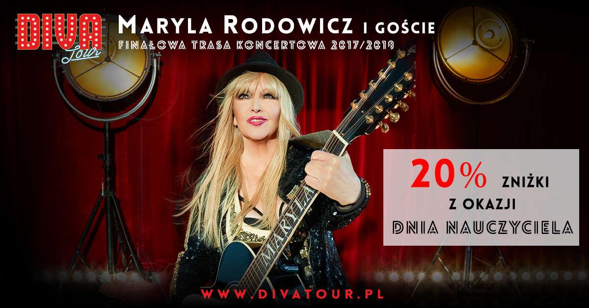 Koncert Maryli Rodowicz w Elblągu już 26 listopada 2017 w ramach trasy DIVA TOUR Finałowa Trasa Koncertowa - full image