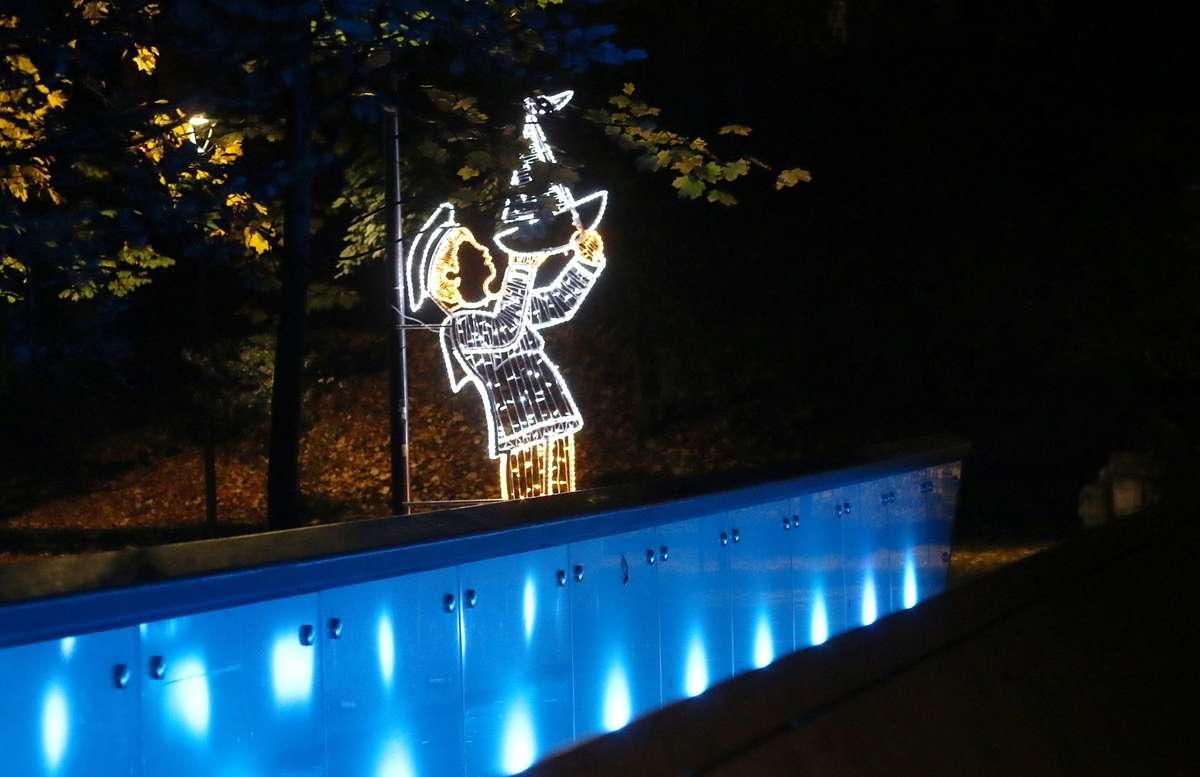 Park Podzamcze wypiękniał. Pojawiły się świetlne dekoracje  - full image