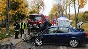 Wypadek przy ul. ZHP. Ranny kierowca trafił do szpitala