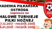 AP Ostróda zaprasza do zapisów na zimowe turnieje halowe