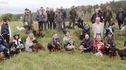 Kilkadziesiąt psów gończych na łąkach w Orzechowie [VIDEO]