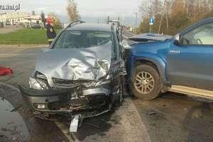 Wypadek w Byszwałdzie. Jedna osoba ranna