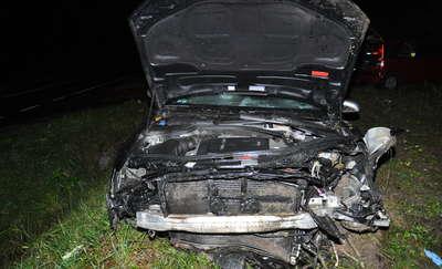 Wypadek w Leśniewie. Kierowca trafił do szpitala