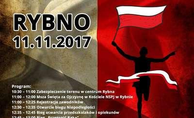 Zapraszamy do Rybna na XX Bieg Niepodległości