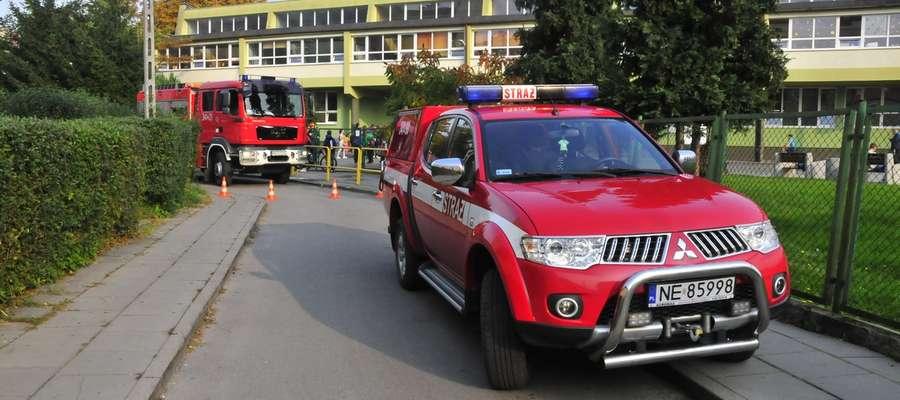 Incydent w szkole przy ul. Uroczej. Interweniowali strażacy