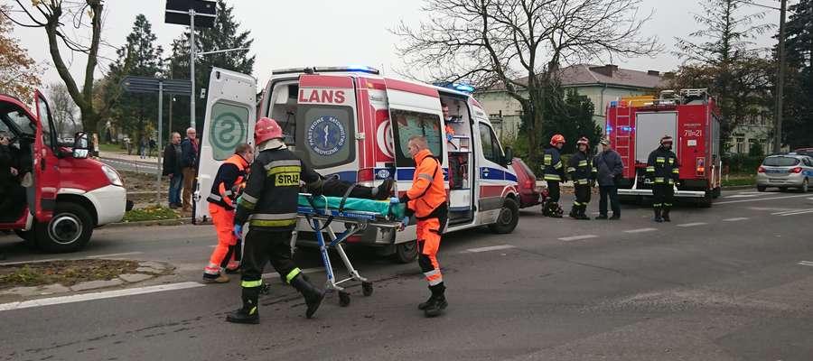 Pasażerka opla trafiła do szpitala