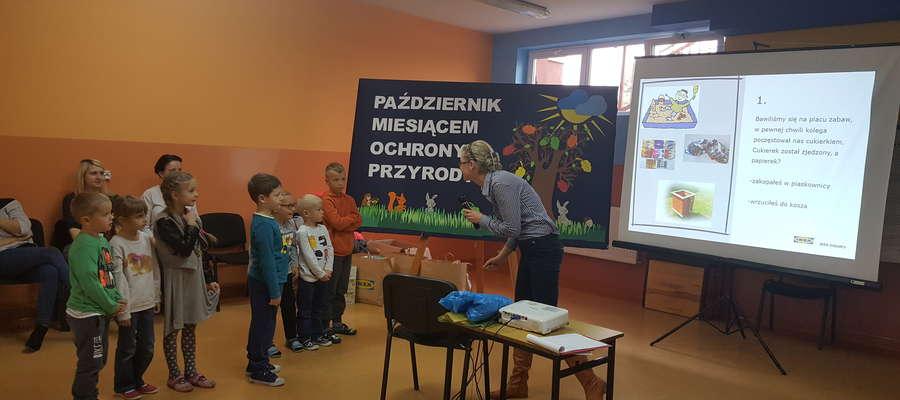 Podczas warsztatów z dziećmi