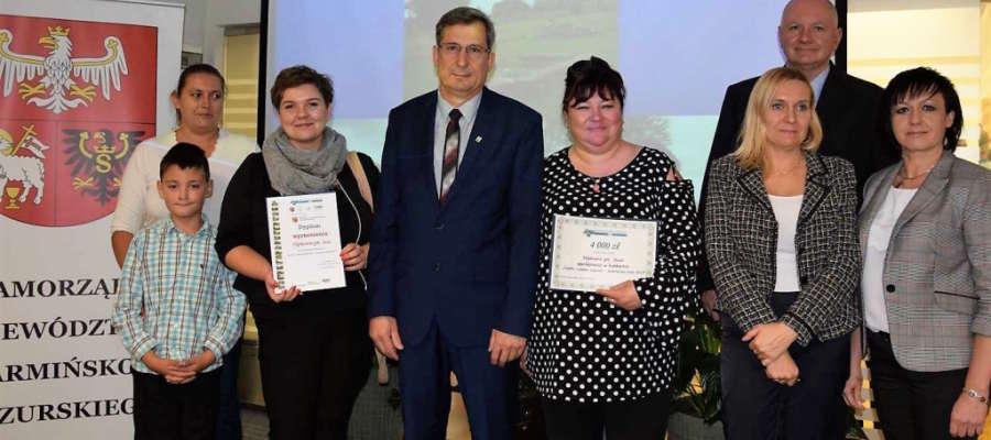 Delegacja z Susza i miejscowości Nipkowie wzięła udział w uroczystości i odebrała wyróżnienie