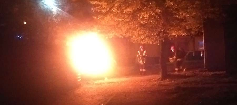 Do pożaru hondy doszło po godzinie 21