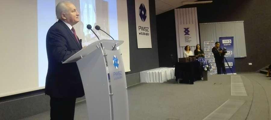 Konferencję otworzył Gustaw Marek Brzezin