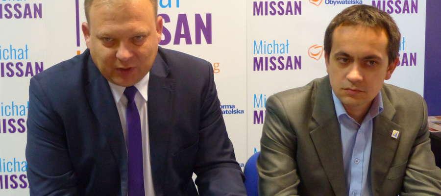 Od lewej Michał Missan, Robert Turlej