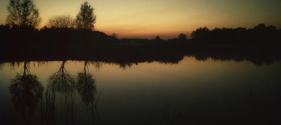Wieczorny krajobraz w Grudzie.
