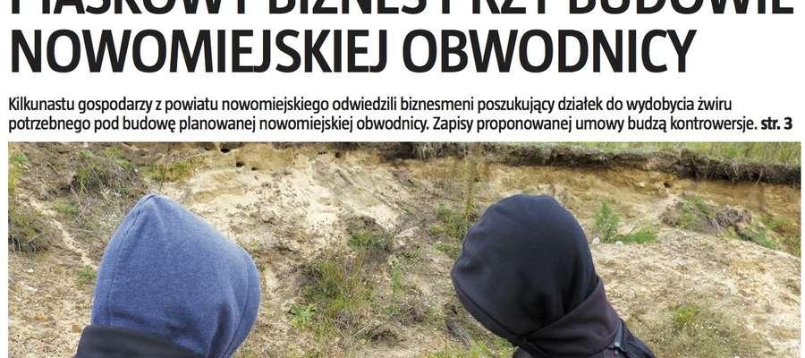 """Jutro """"świeża"""" Gazeta Nowomiejska"""