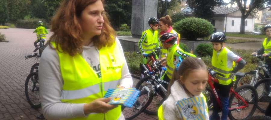 """Pierwsza edycja akcji """"Uważaj na zebrę"""" odbyła się we wrześniu, a zapoczatkowali ją mrągowscy rowerzyści."""