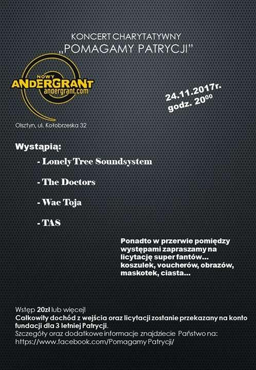 Andergrant zaprasza na charytatywny koncert Pomagamy Patrycji - full image