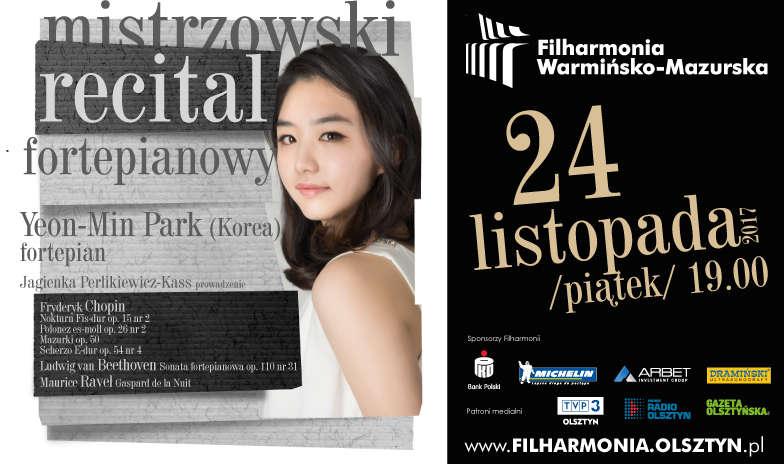 Kolejny mistrzowski recital w Filharmonii Warmińsko-Mazurskiej! Przy fortepianie Yeon-Min Park - full image