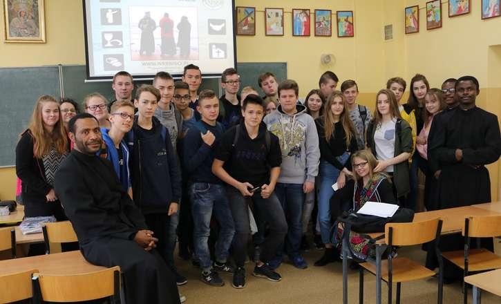 Misjonarze w lidzbarskiej szkole