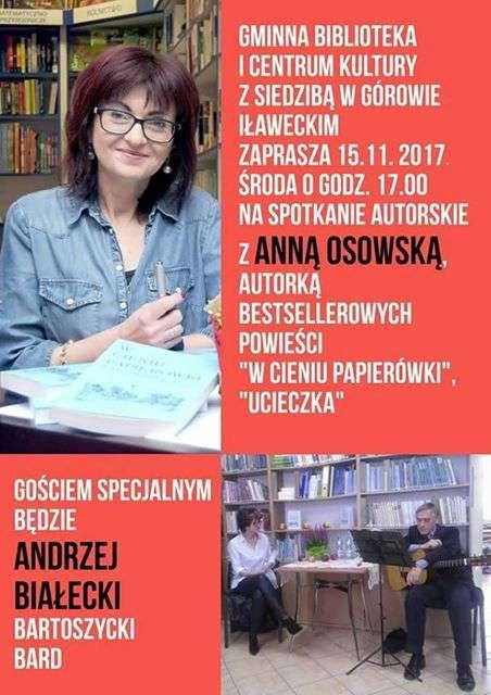 Spotkanie z pisarką Anną Osowską - full image