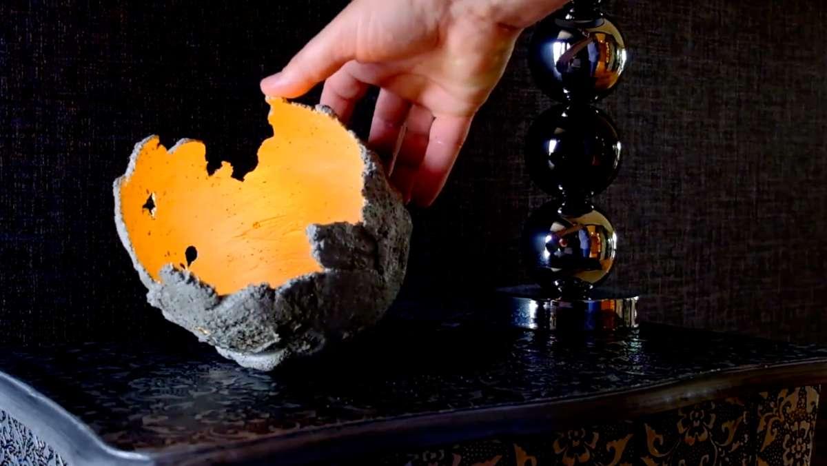 Wykonaj sam dekoracje i naczynia z betonu - full image