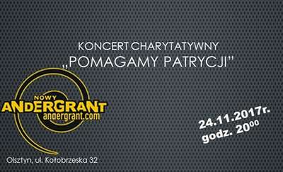 "Andergrant zaprasza na charytatywny koncert ""Pomagamy Patrycji"""