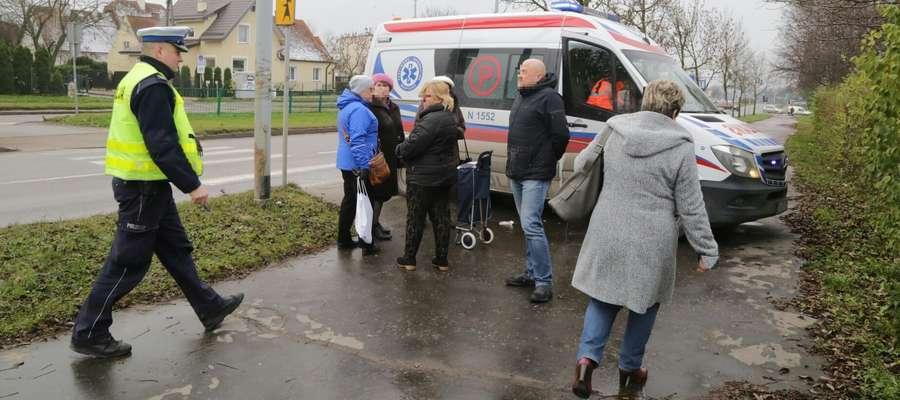 Potrącenie pieszych przy ul. Pstrowskiego