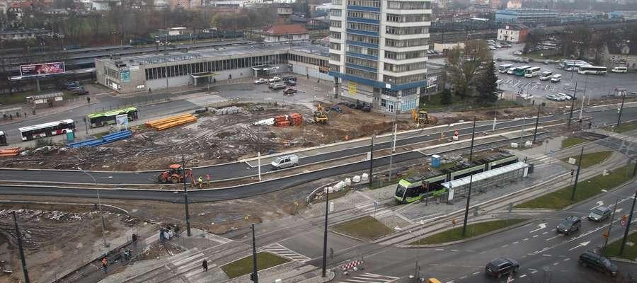 Budowa węzła przesiadkowego  Olsztyn- Nz. Budowa węzła przesiadkowego w okolicy Dworca Głównego w Olsztynie