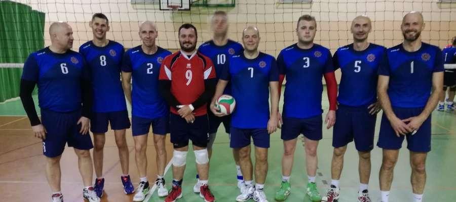 """""""Brązowa"""" drużyna. Pierwszy z lewej: Dariusz Ślęzak, Komendant Powiatowy Policji w Kętrzynie"""