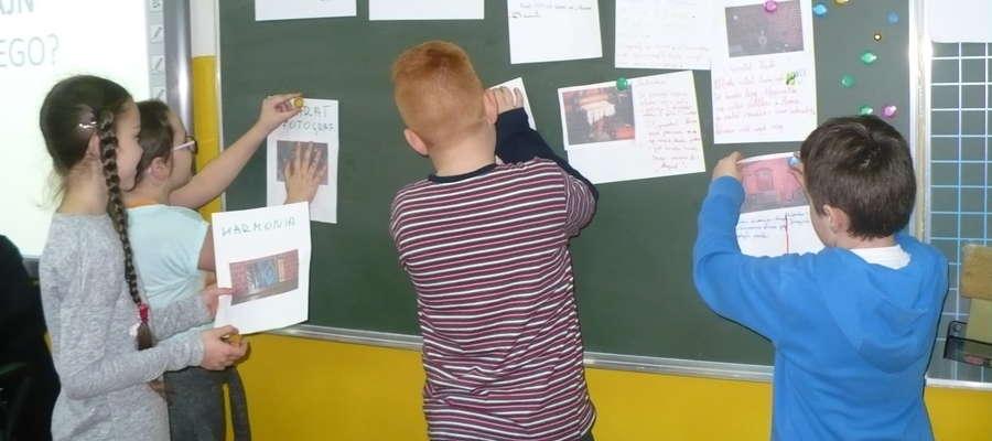 Podczas warsztatów w szkole w Zajączkowie