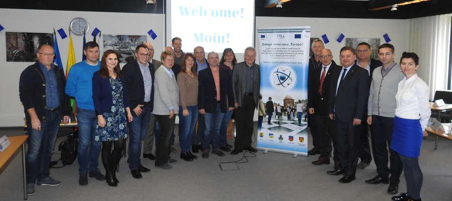 Uczestnicy konferencji w niemieckim Hude