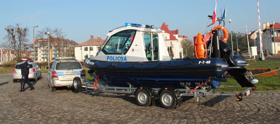 Nowa łódź policyjna w Giżycku